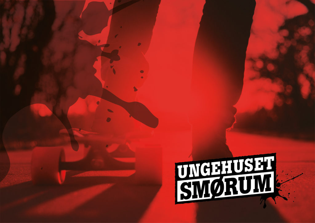 Ungehuset Smørum Logo Rød